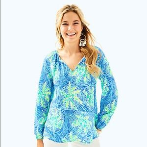 Lilly Pulitzer Willa Tunic Top size small